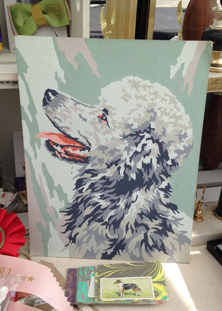 A very collectible poodle paint-by-number